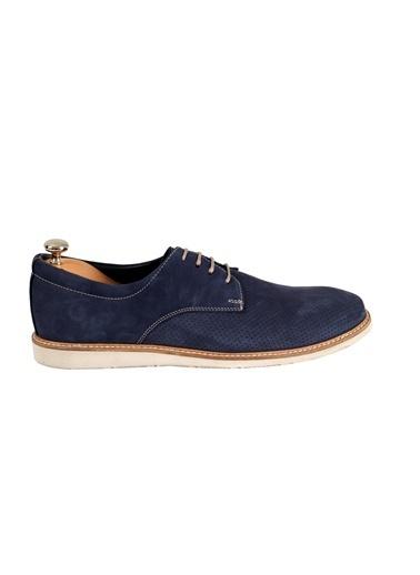 Tripy Hakiki Deri Ayakkabı Mavi